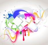 De abstracte samenstelling van de kleur Stock Afbeelding