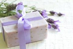 De abstracte samenstelling van de lavendelcosmetics spa lichaamsverzorging Stock Afbeelding