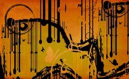 De abstracte samenstelling van Grunge Royalty-vrije Stock Foto's