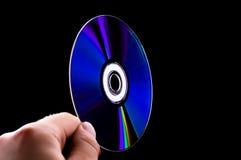 De abstracte schijf van de CD dvd blauw-straal ter beschikking Stock Fotografie