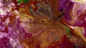 De abstracte schoonheid van de verf van de kunstinkt explodeert kleurrijke uitgespreide fantasie stock footage