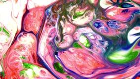 De abstracte schoonheid van de verf van de kunstinkt explodeert kleurrijke uitgespreide fantasie stock videobeelden