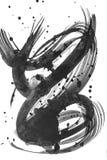 De abstracte Slag van de Waterverfborstel van verf op Witboekbackgro Stock Foto's