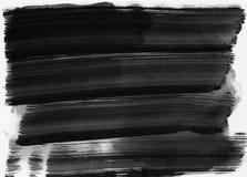 De abstracte slagen van de waterverfhand geschilderde borstel Stock Afbeeldingen