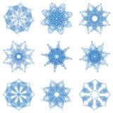 De abstracte sneeuwvlok van Kerstmis Royalty-vrije Stock Foto's
