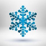 De abstracte sneeuwvlok van metaalKerstmis Stock Foto's