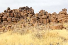 De abstracte Speelplaats van rotsenreuzen, Keetmanshoop, Namibië Royalty-vrije Stock Afbeeldingen