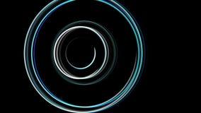 De abstracte spiraalvormige roterende gloedlijnen, computer produceerden achtergrond, 3D teruggevende achtergrond Royalty-vrije Stock Foto
