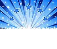 De abstracte ster barstte achtergrond vector illustratie