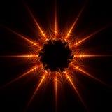 De abstracte ster van de Vlam stock fotografie