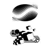 De abstracte sticker van de muurkunst Stock Afbeeldingen