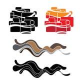 De abstracte sticker van de muurkunst Stock Fotografie