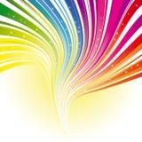 De abstracte streep van de regenboogkleur met sterren Stock Fotografie