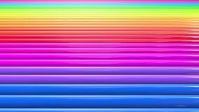 De abstracte strepen van regenboogkleuren, achtergrond in 4k met heldere glanzende verf Vlotte naadloze animatie met gradiëntkleu stock footage
