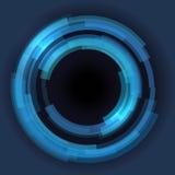 De abstracte technologie omcirkelt vectorachtergrond Royalty-vrije Stock Foto
