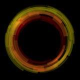 De abstracte technologie omcirkelt vectorachtergrond Stock Afbeelding