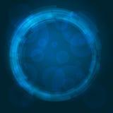 De abstracte technologie omcirkelt vectorachtergrond Stock Afbeeldingen