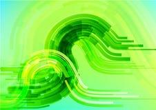 De abstracte technologie omcirkelt vectorachtergrond Stock Fotografie