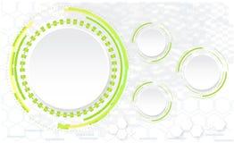 De abstracte technologie omcirkelt vectorachtergrond Stock Foto