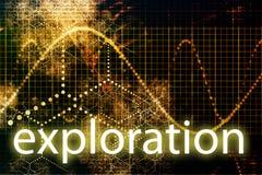 De Abstracte Technologie van de exploratie royalty-vrije illustratie