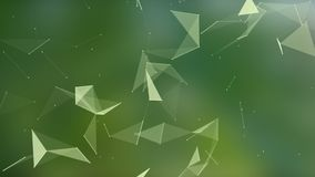 De abstracte technologie van de vlechtfantasie Abstracte geometrische achtergrond met het bewegen van lijnen, punten en driehoeke stock video