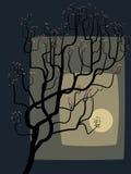 De abstracte tekening van een tot bloei komende boom. Stock Fotografie