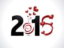 De abstracte tekst van het liefde artistieke nieuwe jaar Stock Foto's