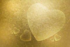 De abstracte textuur als achtergrond heeft een groot en klein hart voor valen Royalty-vrije Stock Afbeeldingen