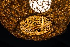 De abstracte textuur van de weefsellamp Stock Afbeelding