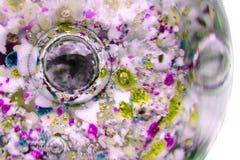 De abstracte textuur van het kleurenglas Stock Afbeeldingen