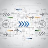 De abstracte toekomstige achtergrond van het technologieconcept, vector Stock Afbeelding