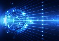 De abstracte toekomstige achtergrond van het technologieconcept, vectorillustratie Royalty-vrije Stock Fotografie