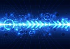 De abstracte toekomstige achtergrond van het technologieconcept, vectorillustratie Royalty-vrije Stock Afbeelding