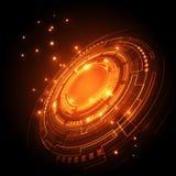 De abstracte toekomstige achtergrond van het technologieconcept, vectorillustratie Stock Afbeeldingen
