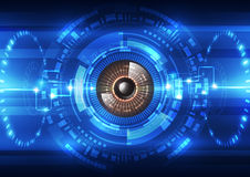 De abstracte toekomstige achtergrond van het technologieveiligheidssysteem, vectorillustratie Stock Fotografie