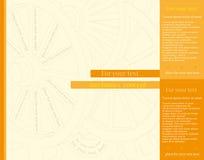 De abstracte toestellen rijden gele achtergrond voor uw bedrijfs promotiekunstwerk Royalty-vrije Stock Fotografie