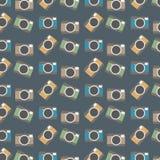 De abstracte Uitstekende Achtergrond van het Camera'spatroon Stock Afbeelding