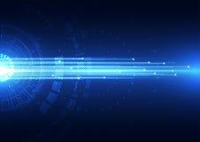 De abstracte vector hallo achtergrond van Internet van de snelheidstechnologie Stock Afbeelding