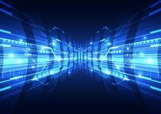 De abstracte vector hallo achtergrond van Internet van de snelheidstechnologie Royalty-vrije Stock Afbeeldingen