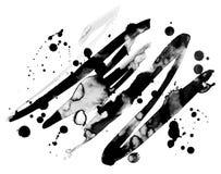 De abstracte vector van de inkt grunge textuur Royalty-vrije Stock Afbeeldingen