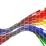 De abstracte vector van de kleur stock afbeeldingen
