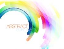 De abstracte vector van de krommescène Stock Fotografie