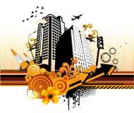 De abstracte vector van de stad Stock Foto