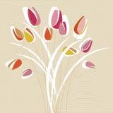 De abstracte vector van het tulpenontwerp royalty-vrije illustratie