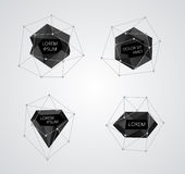 De abstracte vector van kristalmalplaatjes Royalty-vrije Stock Afbeeldingen