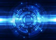 De abstracte vectorachtergrond van de techniektechnologie, illustratie Stock Afbeelding