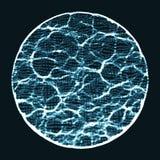 De abstracte vectorachtergrond van het golfnetwerk De serie van de puntwolk Chaotische lichte golven Technologische cyberspace ac Royalty-vrije Stock Foto