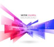 De abstracte vectorachtergrond van technologielijnen Stock Afbeeldingen