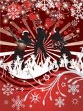 De abstracte vectoraffiche van het Overleg van Kerstmis Stock Afbeelding