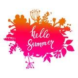 De abstracte vectorbanner van het de herfstgebladerte Het typografische ontwerp van de groetkaart Hello September Royalty-vrije Stock Fotografie
